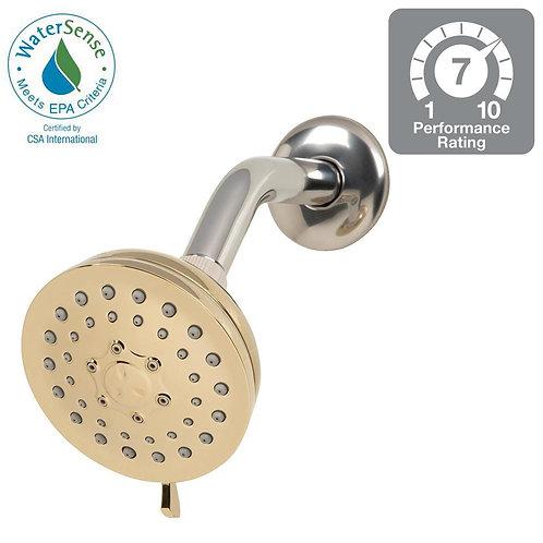 Glacier Bay 3-Spray 3.75 in. Fixed Shower Head in Polished Brass
