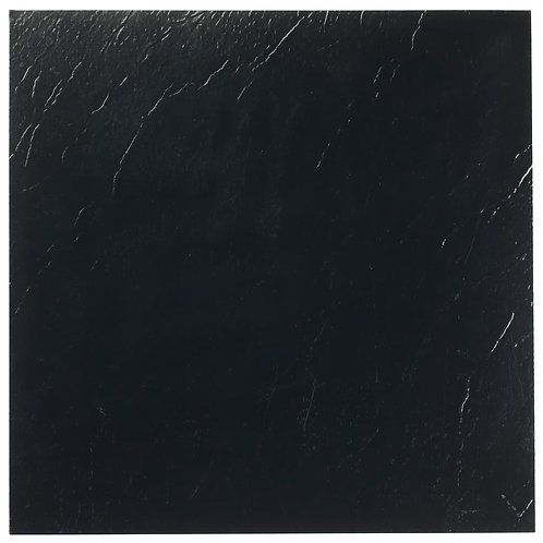 Achim Sterling Black Solid 12 in. x 12 in. Peel and Stick Vinyl Tile