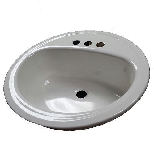 Bootz Industries Laurel 19 in. Self-Rimming Drop-In Bathroom Sink in White