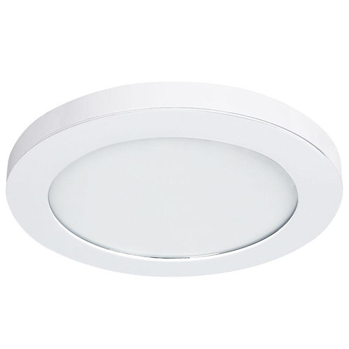 11 in. White LED Edge-Lit Flat Round Panel Flushmount