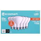 EcoSmart 65-Watt Equivalent BR30 Dimmable Energy Star LED Light Bulb Soft White