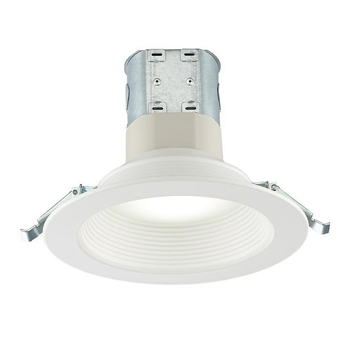 Commercial Electric Easy-Up 6 in. Deep Baffle Color Selectable Canless LED Reces