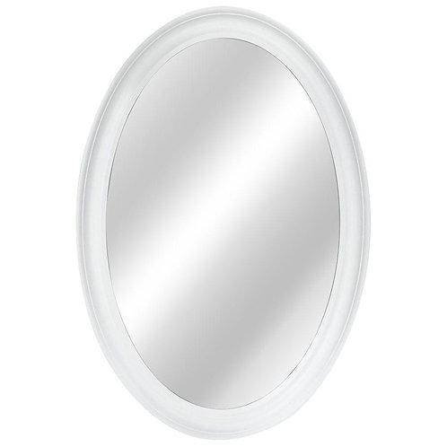 21 in. W x 31 in. L Framed Fog Free Wall Mirror in White