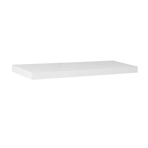 24 in. L x 7.75 in. W Slim Floating White Shelf