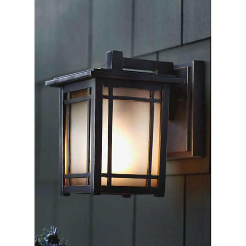 HDC -Port Oxford 1-Light Oil-Rubbed Chestnut Outdoor Wall Lantern Sconce