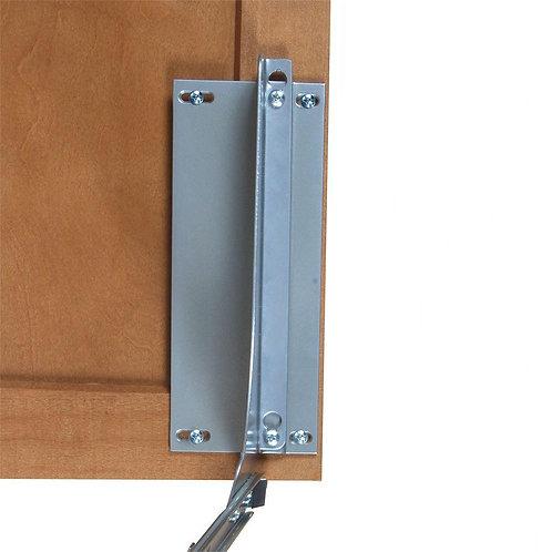 Knape & Vogt 18 in. H x 4 in. W x 23 in. D Door-Mount Trash Can Bracket Kit in P