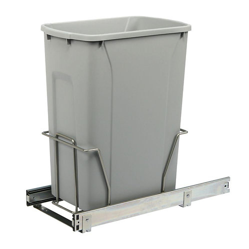 19 in. H x 9 in. W x 20 in. D Steel In-Cabinet 35 Qt. Single Pull-Out Trash Can