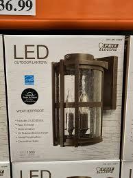 FEIT 11″ LED Round Coach Lantern