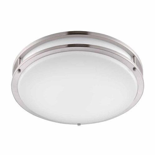 Hampton Bay Brushed Nickel LED Round Flushmount