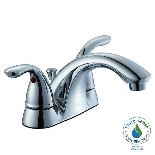 Glacier Bay Builders 4 in. Centerset 2-Handle Low-Arc Bathroom Faucet in Chrome