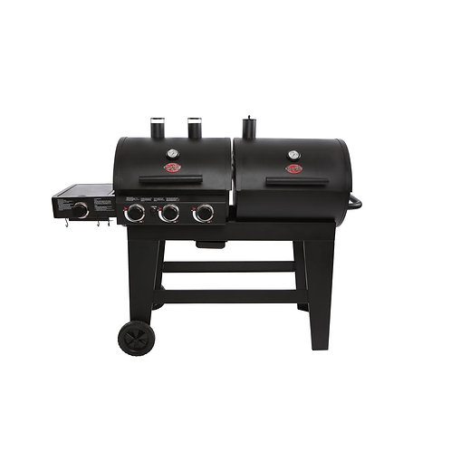 Char-GrillerDouble Play 1,260 sq., in. 3-Burner Gas and Charcoal Grill in Black