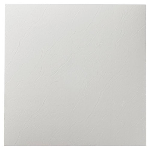 Achim Sterling White Solid 12 in. x 12 in. Peel and Stick Vinyl Tile