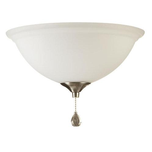 Harbor Breeze 2-Light Brass/Bronze/Brushed Nickel/White LED Ceiling Fan Light Ki