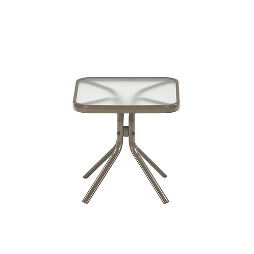 Garden Treasures 18-in W x 18-in L Square Steel End Table