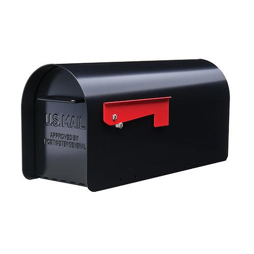 Gibraltar Mailboxe Ironside 7.8-in W x 9.6-in H Metal Black Post Mount Mailbox