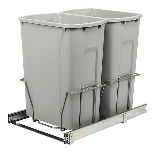 18.75 in. H x 14.38 in. W 22 in D Steel In-Cabinet 35 Qt. Double Pull-Out Trash
