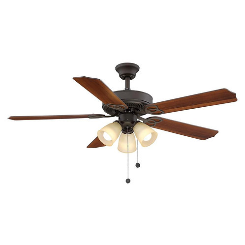 Brookhurst 52 in. Indoor Oil Rubbed Bronze Ceiling Fan with Light Kit