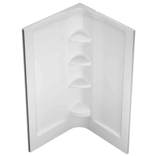 Cerise 36-1/4 in. x 36-1/4 in. x 78-1/2 in. 2-Piece Direct-to-Stud Shower Wall i