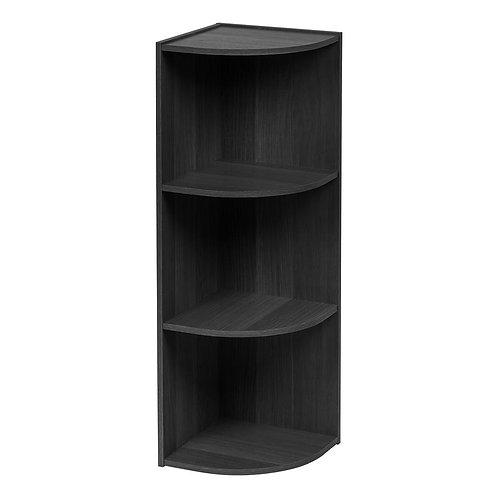 Black 3-Tier Corner Curved Shelf Organizer