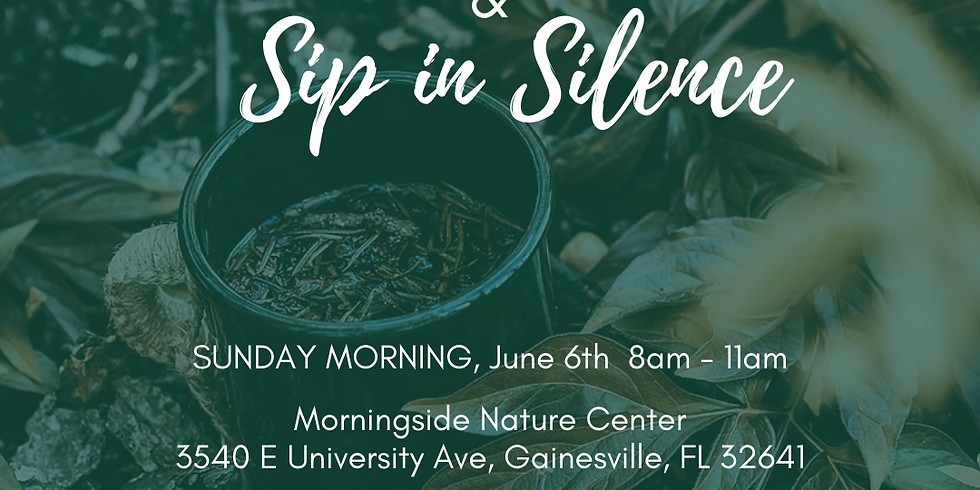 Experience Forest Bathing & Sip in Silence at Morningside Nature Center