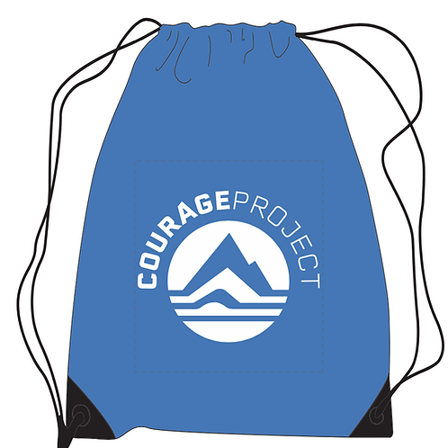 Courage Project Drawstring Backpack