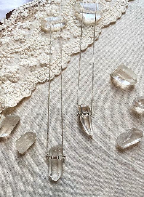 Colar longo de Prata com Cristal