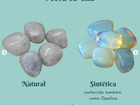 Pedras Verdadeiras x Sintéticas - Parte 1