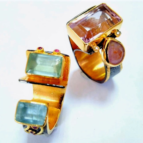 Multi-Gem Rings