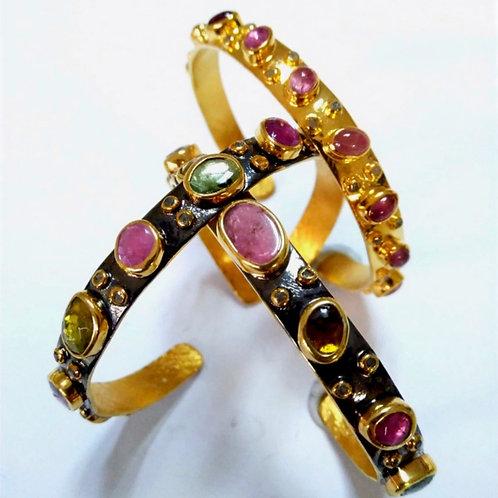 Multicolor Tourmaline Bracelets