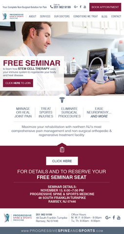 PSS-100 Stem Cell Therapy Seminar Email