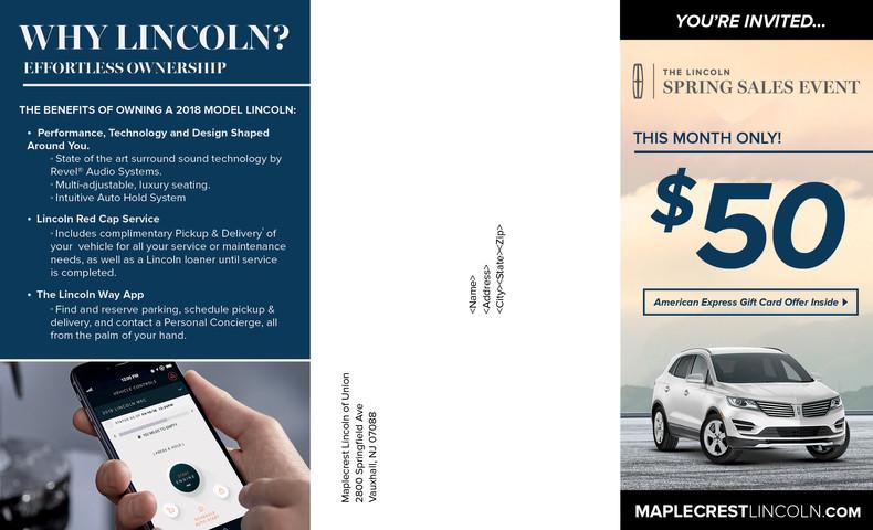 MFL-901 LINCOLN 8.5x14 Invitational Mail