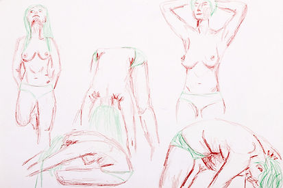 Life Drawing, 2017 - Clothing Optional VIII