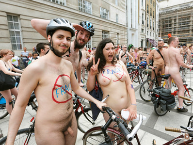 2014 London World Naked Bike Ride