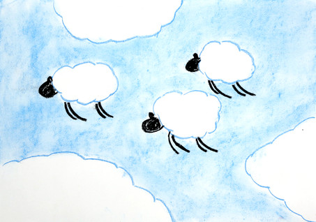 Sheep can fly high, up in the sky, For they are made of cloud.