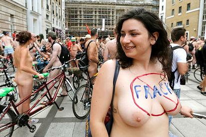 World Naked Bike Ride Lindon 2014