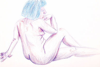 Life Drawing, 2018 - Clothing Optional I