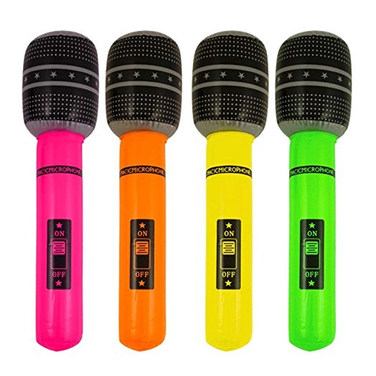 Inflatable Microphones - 60 cents ea.