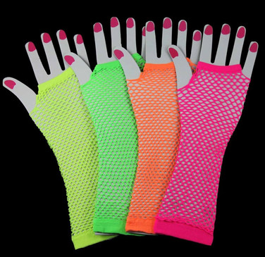 Neon Fishnet Gloves - $0.65 Cents Each or $1.00 per pair