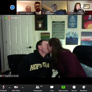 Quarantine Bingo Kiss Cam