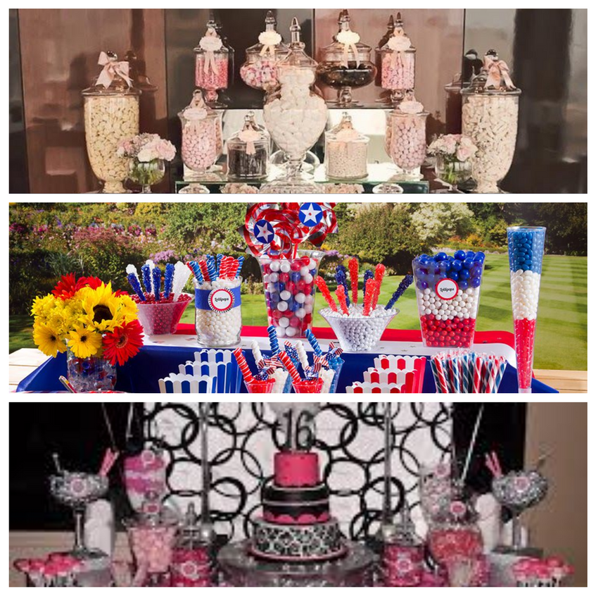 candy table collage