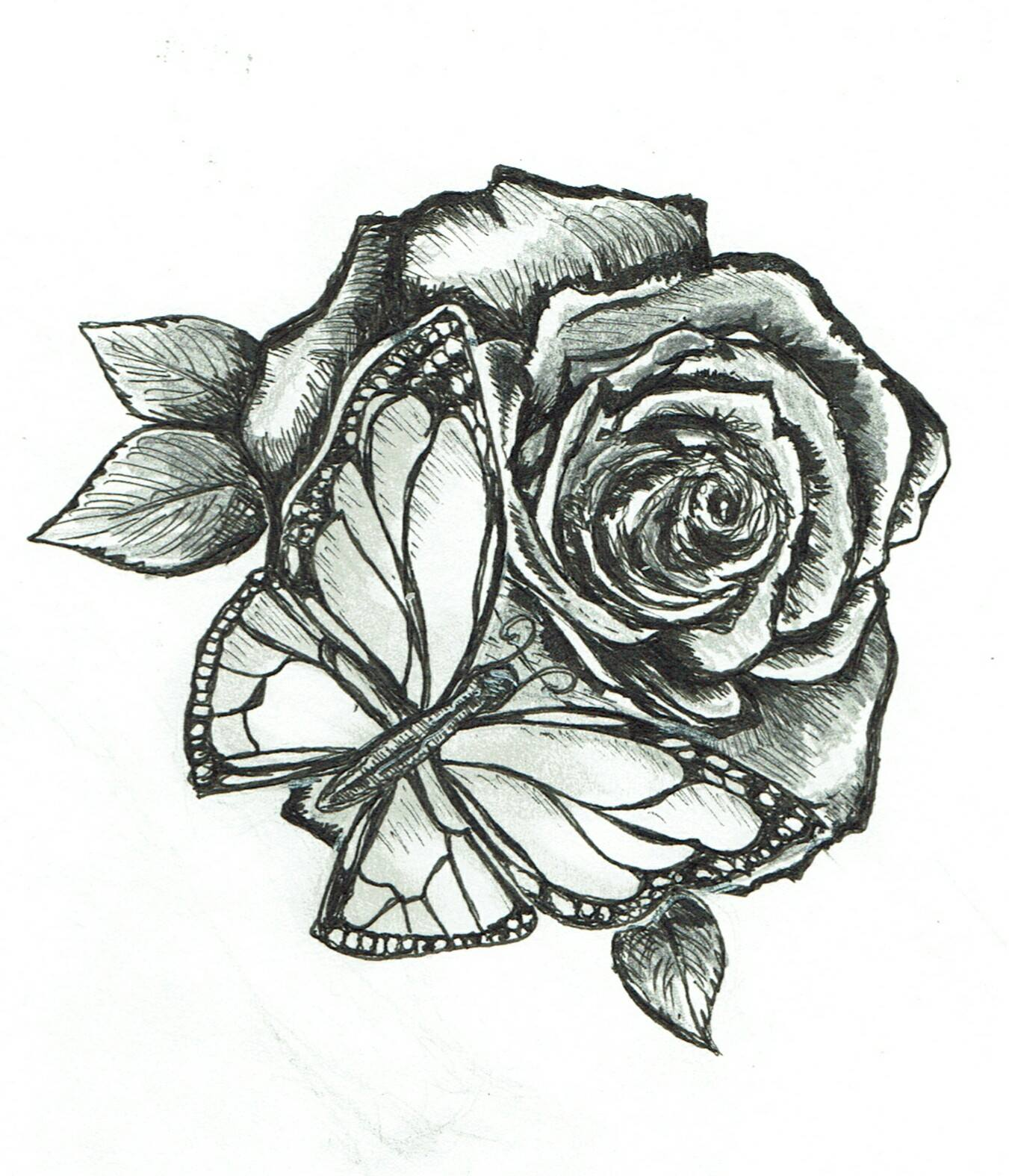 Butterfly / Rose Design