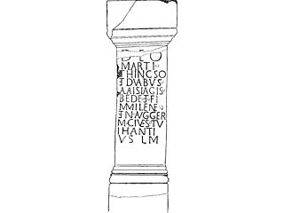 stone pillar AD 43-410 erected by Frisians