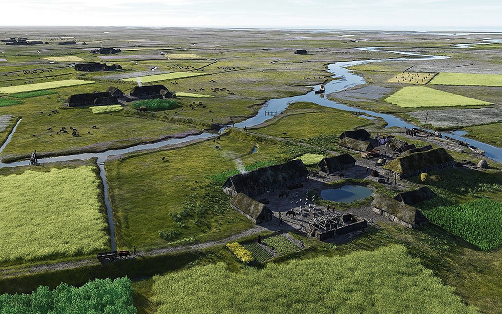 artistic impression of salt marsh culture