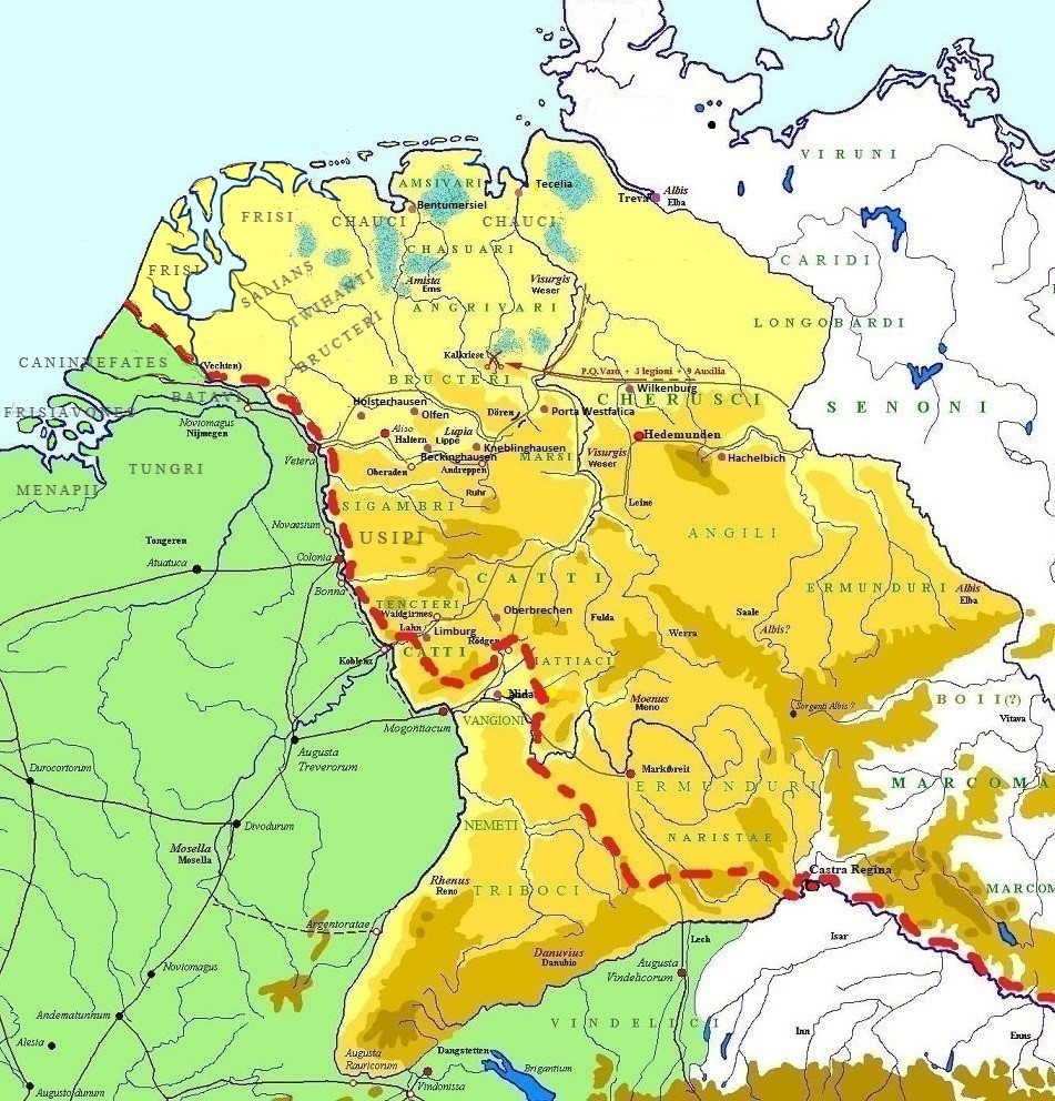 Germanic tribes first century AD