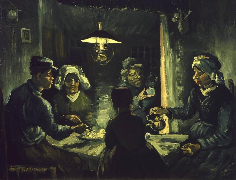 aardappeleters potato eaters Van Gogh