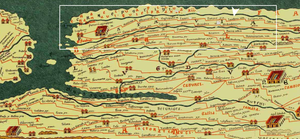 central river area Tabula Peutingeriana