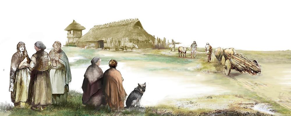 terp (artificial dwelling mound) Iron Age, by Jouke Nijman