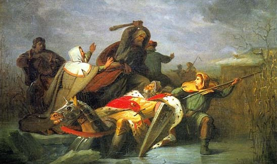 Holy Roman Emperor William II killed by the Westfrisians, near Hoogwoud, January 28, 1256