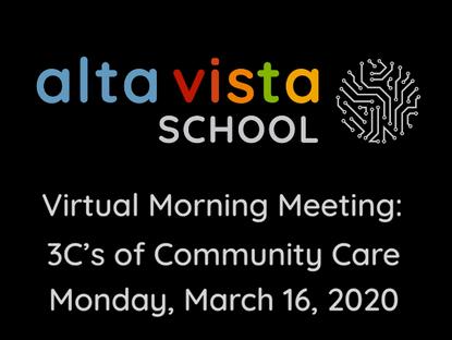 Morning Meetings Gone Virtual