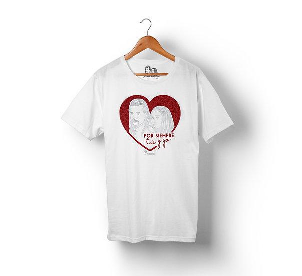 Camiseta ``Por siempre tú & yo´´